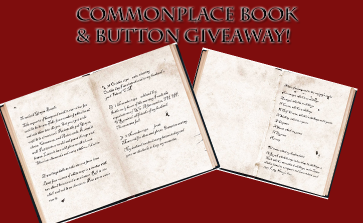 Commonplace Book Giveaway